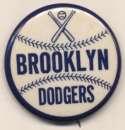 1950 Pin  Brooklyn Dodgers 1 3/4 inch Nm-Mt