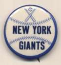 1950 Pin  NY Giants 1 1/4 inch Nm-Mt