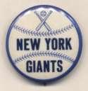 1950 Pin  NY Giants 1 1/4 inch Nm-Mt