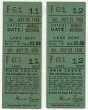 1950 Ticket   Brooklyn Dodgers (7/29/1950) - Matched Pair  Ex mk