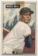 1951 Bowman 198 M Irvin RC Poor