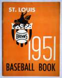 1951 Yearbook  St. Louis Browns Ex+