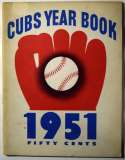 1951 Yearbook  Chicago Cubs Ex+