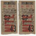 1951 Ticket  NY Giants (7/13/1951) - Matched Pair GVG