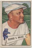 1952 Bowman Small 48 Halas RC Ex++