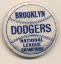 1952 Pin  Brooklyn Dodgers World Series NM
