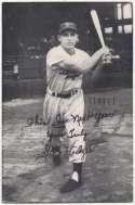 1952   Gil Hodges Schedule Postcard Ex*