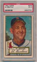 1952 Topps 374 Benton PSA 3