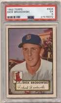 1952 Topps 404 Dick Brodowski PSA 5