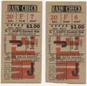 1952 Ticket  NY Giants (9/8/1952) - Matched Pair VG-Ex/Ex