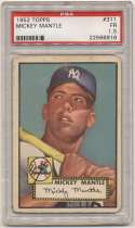 1952 Topps 311 Mickey Mantle PSA 1.5