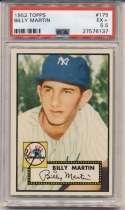 1952 Topps 175 Billy Martin PSA 5.5