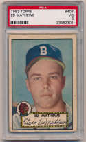 1952 Topps 407 Mathews RC PSA 3
