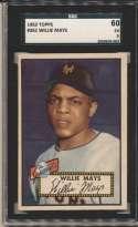 1952 Topps 261 Willie Mays SGC 5