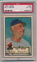 1952 Topps 387 Meyer PSA 4