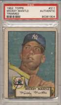 1952 Topps 311 Mickey Mantle PSA Authentic