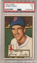 1952 Topps 15 Johnny Pesky PSA 5
