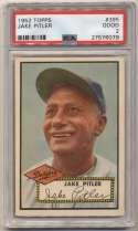 1952 Topps 395 Jake Pitler PSA 2