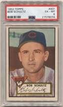 1952 Topps 401 Bob Schultz PSA 6