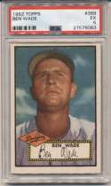 1952 Topps 389 Ben Wade PSA 5