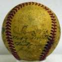 1952 Yankees  Team Ball w/real Mantle 4