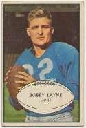 1953 Bowman 21 Bobby Layne VG+ JSA LOA