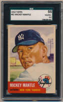 1953 Topps 82 Mickey Mantle SGC 4.5 (superb)