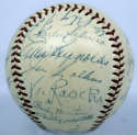 1953 Yankees  Team Ball w/original box 8.5 PSA DNA (FULL)
