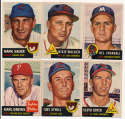 1953 Topps  25 different commons,    Strong Ex