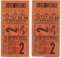 1953 Ticket  NY Giants (4/17/1953) - Matched Pair VG-Ex/Ex