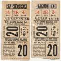 1953 Ticket  NY Giants (5/10/1953) - Matched Pair VG-Ex/Ex