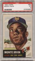 1953 Topps 62 Irvin PSA 5