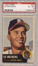 1953 Topps 37 Mathews PSA 6