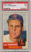 1953 Topps 49 Throneberry PSA 7