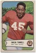 1954 Bowman 102 Emlen Tunnell Ex