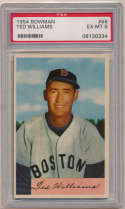 1954 Bowman 66.1 Ted Williams PSA 6