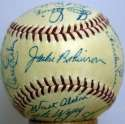 1954 Dodgers  Team Ball w/real Campy 9
