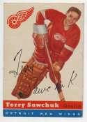 1954 Topps 58 Terry Sawchuk VG