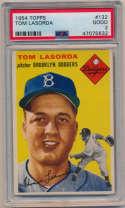 1954 Topps 132 Lasorda RC PSA 2