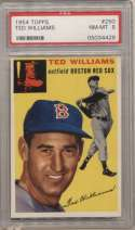 1954 Topps 250 Williams PSA 8
