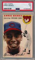 1954 Topps 94 Banks RC PSA 3 (nice card)
