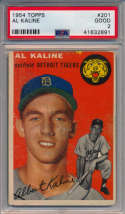 1954 Topps 201 Kaline RC PSA 2