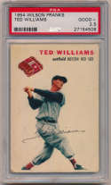 1954 Wilson Weiners  Ted Williams PSA 2.5