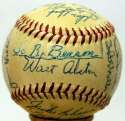 1955 Dodgers  Team Ball 9 JSA LOA