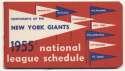 1955   NY Giants Schedule Ex-Mt/NM
