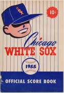 1955 Scorecard  White Sox (part. scored vs Os) VG-Ex