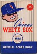 1955 Scorecard  White Sox (part. scored vs Os) Ex-Mt+