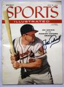 Program  Adcock, Joe Signed 7/30/1956 Sports Illustrated 9.5