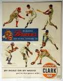 1956 Scorecard  Braves (partially scored vs Cubs) VG