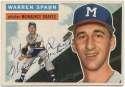 1956 Topps 10 Spahn 9